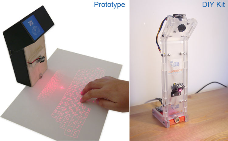 Open Source Laser Projection Keyboard